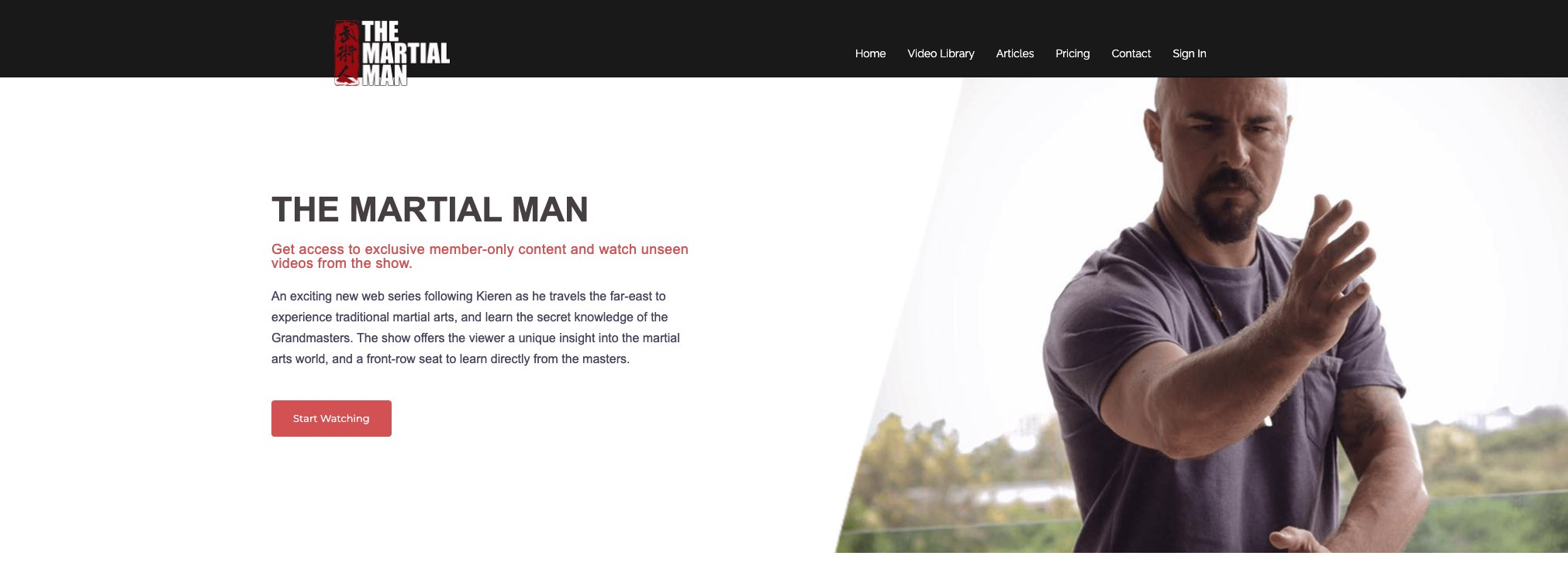martial man homepage